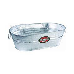 Amazon.com : Behrens 3-OV 16-Gallon Oval Steel Tub : Tub For Drinks : Patio, Lawn & Garden