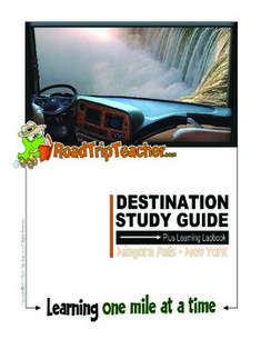Road Trip Teacher takes you on a road trip to historic Niagara Falls State Park in Niagara Falls, New York. Information inside includes history about Niagara Falls and the surrounding state park, wildlife in the area, an introduction to hydroelectricity, details about the nearby Great Lakes, vocabulary, and other educational information including lapbook/notebook diagram requiring at least two folders.Designed for ages K-6, can be adapted to any age.36 pages.