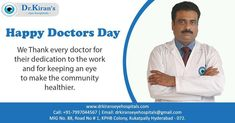 National Doctor's Day! Grateful to all the dedicated professionals out there.  #nationaldoctorsday2020 #happydoctorsday #grateful #dedicatedprofessionals #doctors #nurses #eyehospital #surgeons #eyecare #thankyou Happy Doctors Day, National Doctors Day, Care Hospital, Hyderabad, Cool Eyes, Nurses, Grateful, Being A Nurse, Doctors Day
