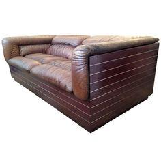 80s Saporiti Leather Sofa/ Loveseat