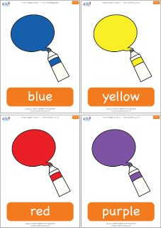 "Color flashcards for the Super Simple Learning song ""I See Something Blue.""…"