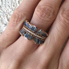 Ruffled Mixed Gemstone Ring Jewelry