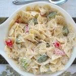 This Pasta Medley Salad is perfect for family get togethers or as a bbq side dish.