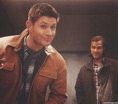 """(gif) Dean and Sam     """"The thing that hurt the most was they actually acted like brothers again. Taunting their prey, making each other laugh...""""     Supernatural 9x21 """"King of the Damned"""""""