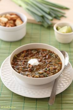 Lentil vegetable soup. I wish summer would go away so I can start making soup again.