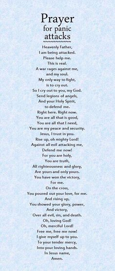 Prayer For anxiety.
