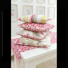 Wallpaper Direct offers a range of Studio G fabrics from the La Vie en Rose Fabric Collection Scandi Style, Decor Interior Design, Bed Pillows, Upholstery, House Design, Studio, Creative, Fabric, Pattern