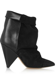 Isabel Marant 'Andrew' suede and leather ankle boots (is anyone else drooling?)