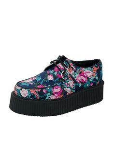 sale retailer 04ce5 f9257 Floral Mondo Creeper Navy Grungemode, Balett, Skor