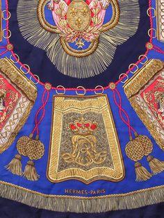 Vintage Hermes Poste et Cavalerie Silk Scarf by Flyinganyc