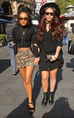 Little Mix arriving at Capital - Sugarscape.com (Little Mix Leigh Ann)
