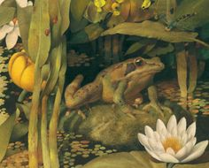 indigodreams    atelierentomologica:  Gennady Spirin illustration, from 'The Frog Song' by Brenda Z Guiberson
