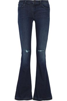 Hippie Jeans J Brand Martini mid-rise flared jeans | NET-A-PORTER