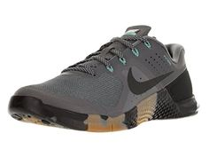 Nike Mens Metcon 2 Synthetic Drk GryBlkHypr TrqGm Md Brw  Trainers  10 DM US *** Click image for more details.