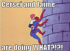 Bahaha!  Spiderman / Game of Thrones Mash Up!!