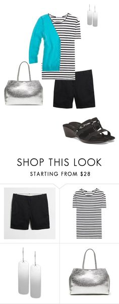 """""""June 7, 2017: Wednesday: Office Day"""" by miigwan ❤ liked on Polyvore featuring J.Crew, T By Alexander Wang, Robert Lee Morris and Banana Republic"""