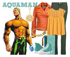 Aquaman by janastasiagg on Polyvore featuring polyvore fashion style H&M Acne Studios Alex and Ani clothing DC JusticeLeague aquaman