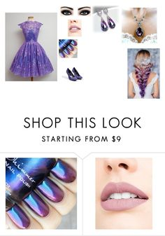 """""""purple princess style"""" by rainycatz-12 on Polyvore featuring 1928, Jouer, Max Factor, Pierre Hardy, purple, beautiful and princess"""