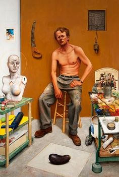 Gregory Joseph Gillespie (November 1936 – April was an American magic realist painter. Figure Drawing, Painting & Drawing, Bo Bartlett, Drawing Projects, Painting People, Famous Art, Creative Portraits, Art Of Living, Figurative Art