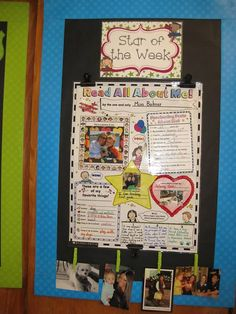 Erica Bohrer's Classroom: Star of the Week