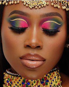 Bold Makeup Looks, Glam Makeup Look, Black Girl Makeup, Girls Makeup, Gorgeous Makeup, Pretty Makeup, Love Makeup, Beauty Makeup, Makeup Pics
