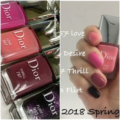 Dior Vernis Spring 2018 - Swatches