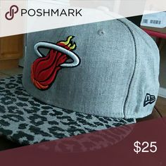 MIAMI HEAT FITTED CAP  758 size MIAMI HEAT FITTED HAT NEW!!!!!!! New Era Other