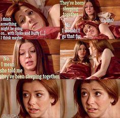 """BtVS"": Tara tells Willow Buffy's dark secret."