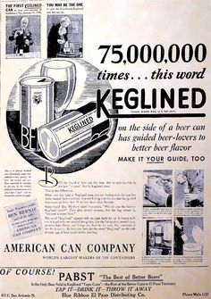 http://keglined.pssht.com/12_nov_35_el-paso_herald-post.jpg This Day in History:  Jan 24, 1935: First canned beer goes on sale http://dingeengoete.blogspot.com/