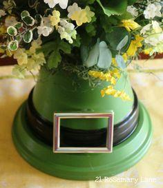 "21 Rosemary Lane: ""Luck of the Leprechaun"" Hat Centerpiece"