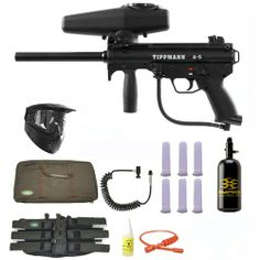 Tippmann A-5 w/ Selector Switch Paintball Marker Gun 3Skull Nitro Sniper Set. Available at Ultimate Paintball!!  http://www.ultimatepaintball.com/p-10393-tippmann-a-5-w-selector-switch-paintball-marker-gun-3skull-nitro-sniper-set.aspx