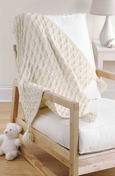 Everyday Life at Leisure: Precious Knit Blankies for Baby
