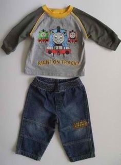 Thomas the Train Boys 2 pc Outfit~Size 12 months~#teamsellit