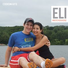 """Eli: """"I cook because it allows me to take a break and spend some time with my wife, who is equally busy."""" 