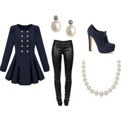 elegance with a hint of rockstar, created by demelzaw on Polyvore