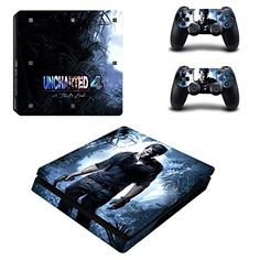 MightyStickers Uncharted 4 A Thiefs End PS4 Slim Console Wrap Cover Skins Vinyl Sticker Decal Protective for Sony PlayStation 4 Slim Controller *** Learn more by visiting the image link.Note:It is affiliate link to Amazon.