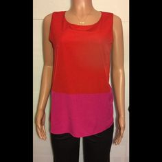 Forever 21 red and pink sleeveless top Bust (armpit to armpit) is 18 inches * length is 23 inches *top has a button closure Forever21 Tops Tunics