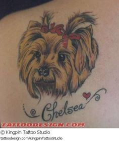 Aaaawwwww!! TATTOO PIC OF THE DAY! Check out this beautiful tattoo design from Kingpin Tattoo Studio at TattooDesign.com!
