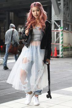 Street Style, Spring Summer 2016, Tokyo Fashion Week, Japan – 16 Oct 2015                                                                                                                                                     More