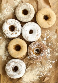 Mini Powdered Vegan Baked Donuts made with the Vitamix