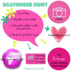 Thirty-One Party Facebook Scavenger Hunt