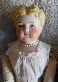 Awesome ABG Parian doll circa 1890, original cloth body--$620.00