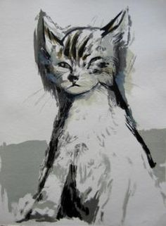 Cat, 1972 - Lithograph by Gaston Barret (French, 1910-1991)