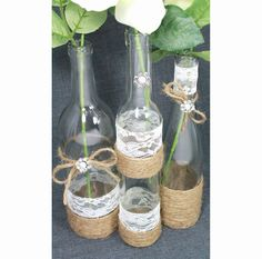 20 wine bottle decor ideas to steal for your vineyard wedding. below, 20 wine bottle decor ideas you should totally steal for your vineyard wedding if you feel like taking on a diy project, pick up a. Wine Bottle Centerpieces, Rustic Wedding Centerpieces, Diy Centerpieces, Wedding Decorations, Chic Wedding, Fall Wedding, Wedding Reception, Our Wedding, Wedding Ideas