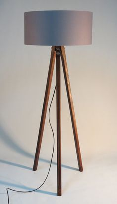 Handmade tripod floor lamp wooden stand in glossy black color with handmade tripod floor lamp with wooden stand and by dyankoffshop aloadofball Gallery