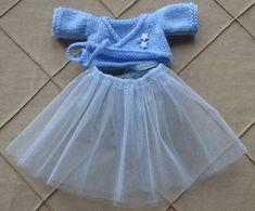 Knit Bunny Ballerina Tutu Knitted Bunny Doll Stuff Toy Bunny
