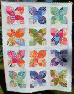 Butterflies - before washing by shecanquilt, via Flickr