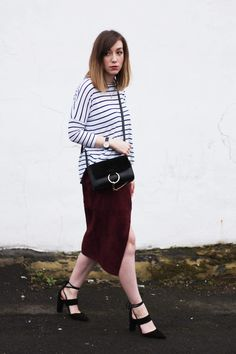 The Suede Wrap Skirt - The Lovecats Inc