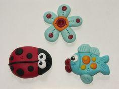 polymer clay ideas | Polymer clay ideas/ clay/ salt dough art / Les Magnets PICT7045
