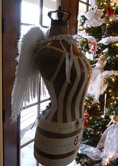 angel wings decorative dress form, Mannequin,Christmas tree